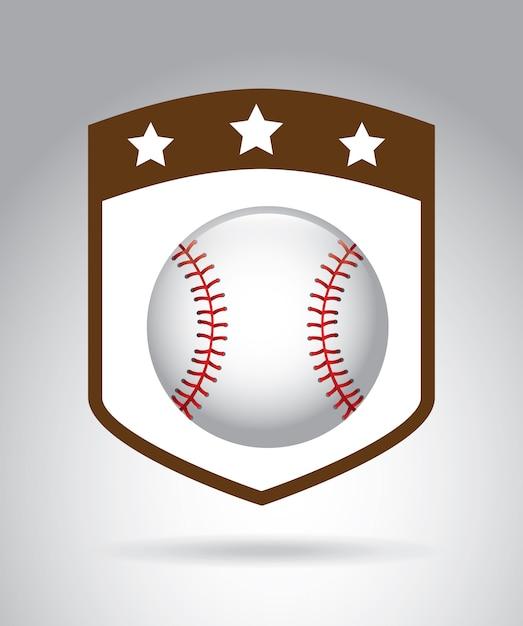 Ligue de baseball Vecteur Premium