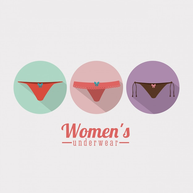 Lingerie femme, illustration vectorielle Vecteur Premium