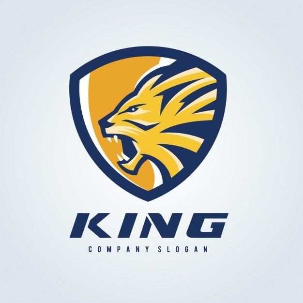 Lion Logo Modèle Vecteur gratuit