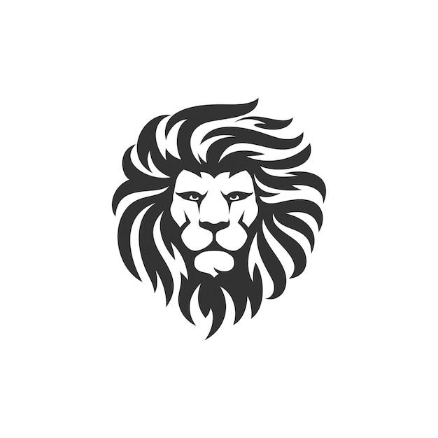 Lion logo vector template Vecteur Premium