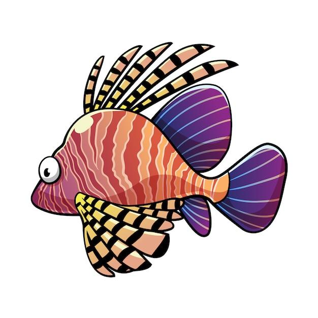 Lionfish Vecteur Premium