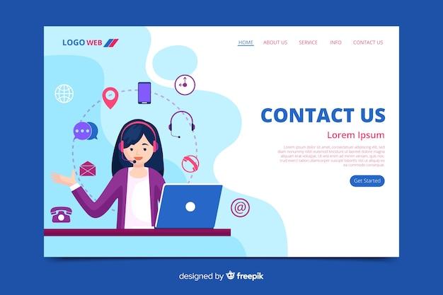 Liquid Contactez-nous Page De Destination Vecteur Premium