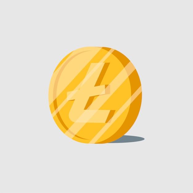 Litecoin crypto-monnaie électronique symbole monétaire Vecteur gratuit