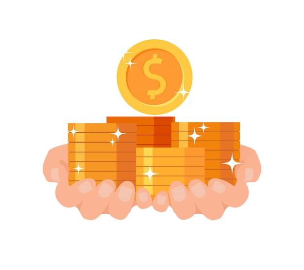 Littératie financière, prêt, illustration rapide Vecteur Premium