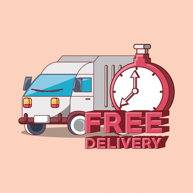 Livraison gratuite Vecteur Premium