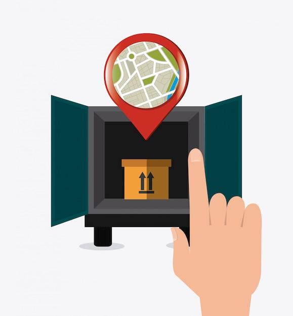 Livraison, transport et logistique Vecteur Premium