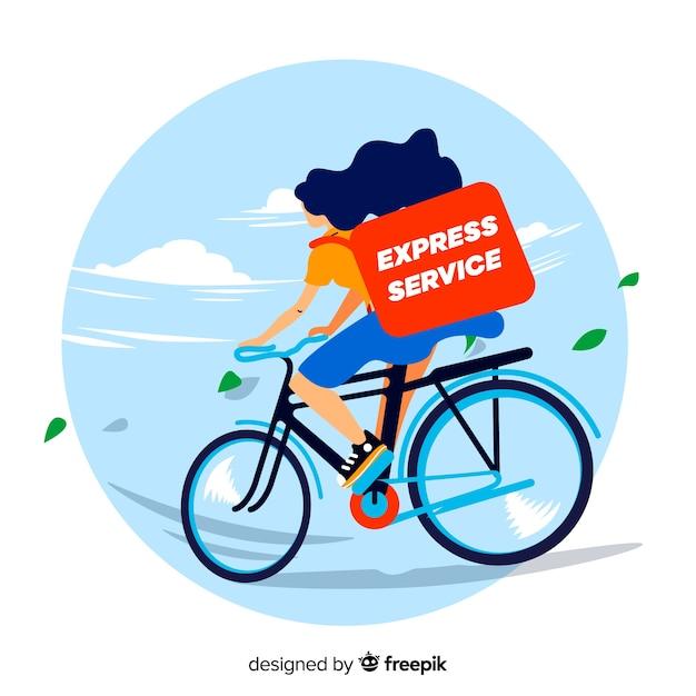 Livraison de vélos Vecteur gratuit