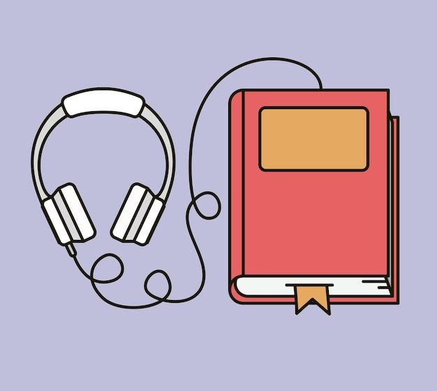 Livre Audio Isole Icone Dessin Vectoriel Telecharger Des