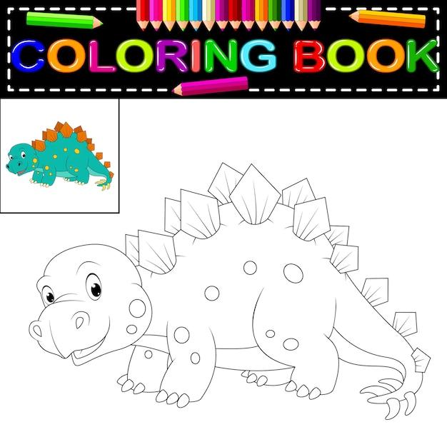 Livre Coloriage Dinosaure.Livre De Coloriage Dinosaure Telecharger Des Vecteurs Premium