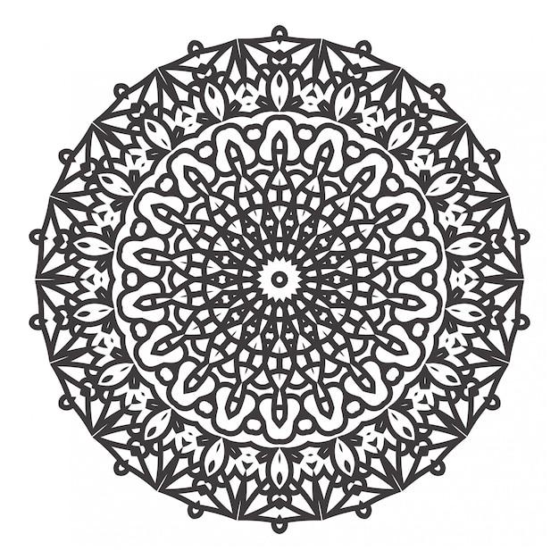 Livre De Coloriage Mandalas Noir Et Blanc Vecteur Premium