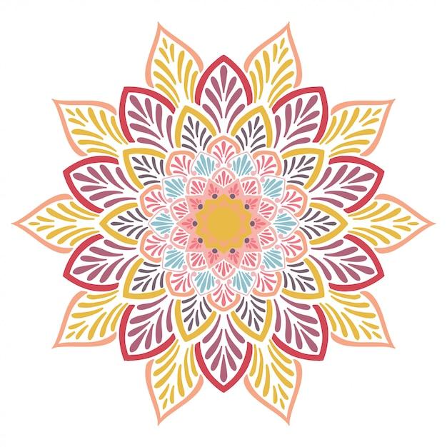 Livre De Coloriage Mandalas, Thérapie Orientale Vecteur Premium