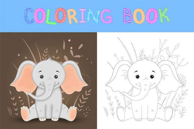 Livre de coloriage ou page pour les enfants de l'école Vecteur Premium