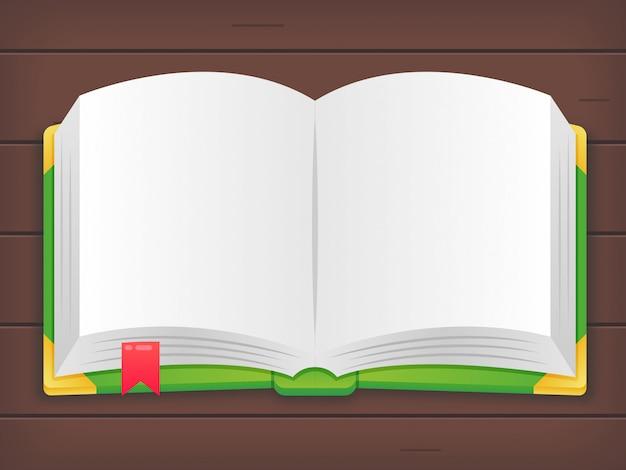 Livre Ouvert De Dessin Anime Sur Fond De Bois Telecharger