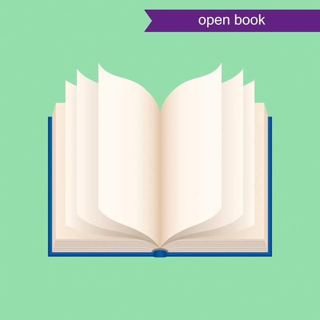 Livre ouvert Vecteur Premium