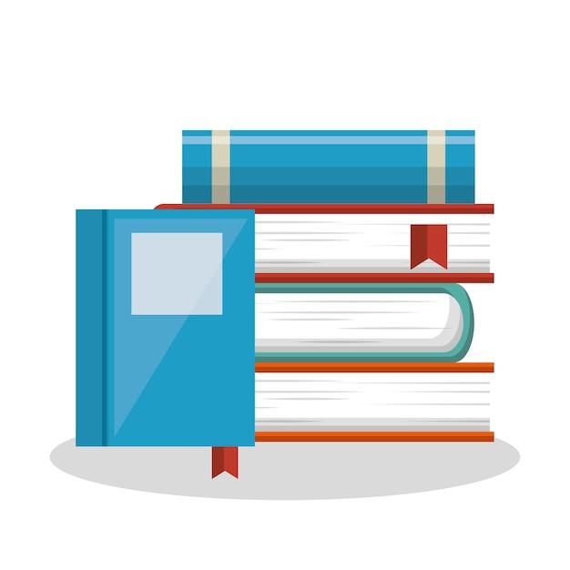 Livre Scolaire Ecole Offre Vecteur Illustration Design