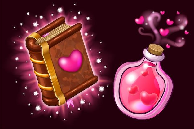 Livre De Sorts Magiques Et De Sorcellerie. Vecteur Premium