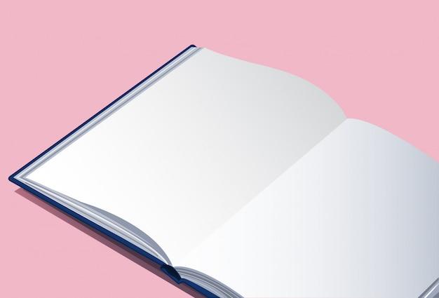 Le Livre Vide Vecteur Premium