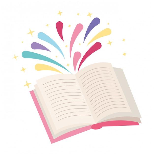 Livres et dessins éducatifs Vecteur Premium