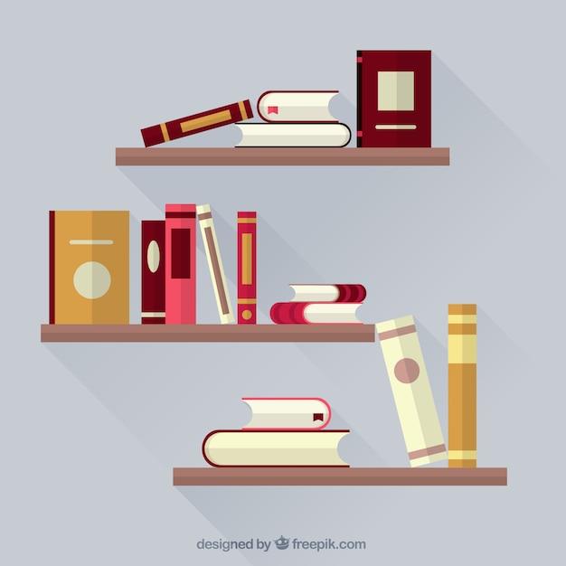 livres sur tag res t l charger des vecteurs gratuitement. Black Bedroom Furniture Sets. Home Design Ideas