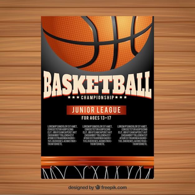 Livret de basket-ball Vecteur gratuit