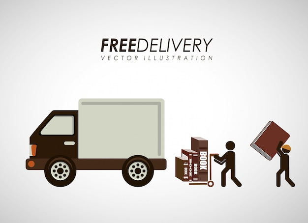 Livrets de service de livraison Vecteur Premium