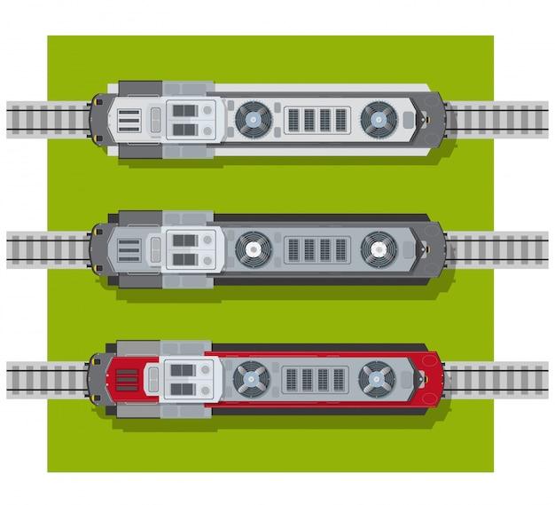 Locomotive électrique des chemins de fer Vecteur Premium