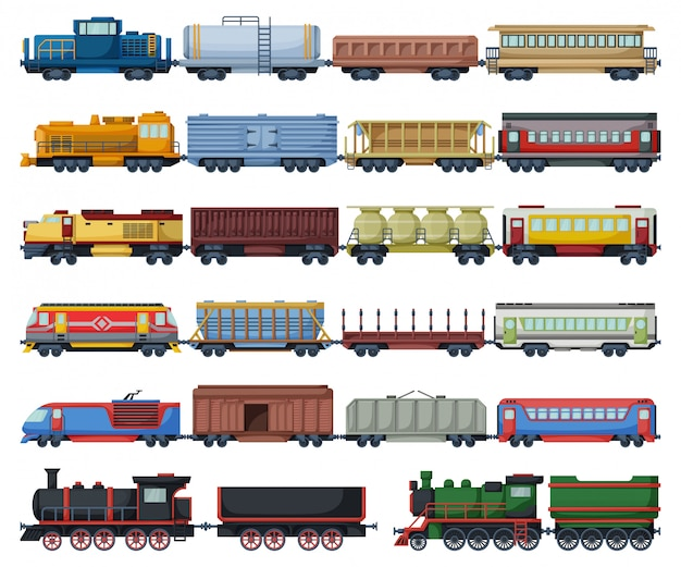 Locomotive Avec Wagon Isole Dessin Anime Icone Du Jeu Dessin Anime Mis Icone Train Ferroviaire Vecteur Premium