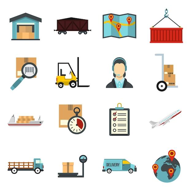 Logistique contre ensemble. Vecteur Premium