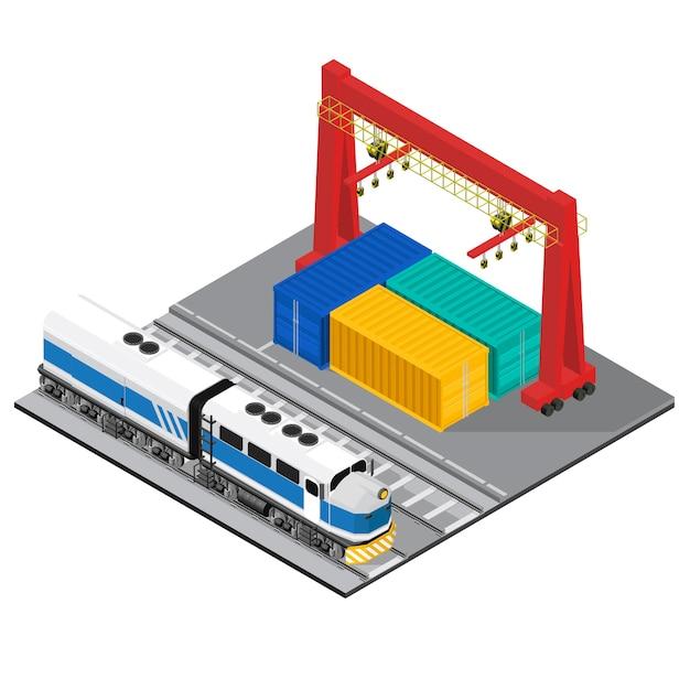 Logistique entreprise industrielle isolé icône sur fond Vecteur gratuit