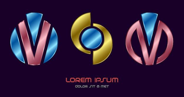 Logo Abstrait Créatif Vecteur Premium