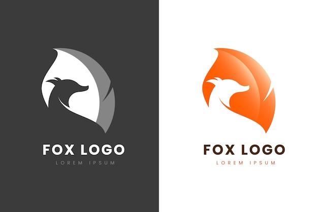 Logo Abstrait En Deux Versions Vecteur gratuit