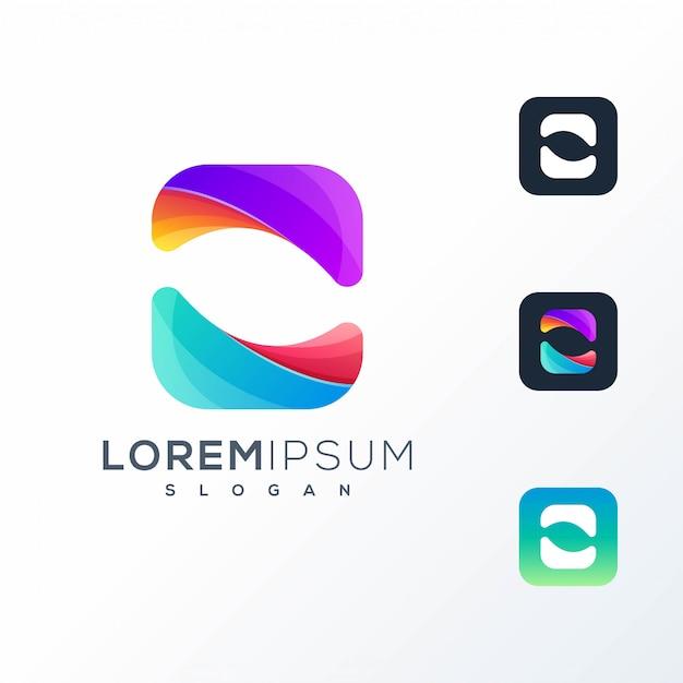 Logo abstrait icône coloré Vecteur Premium
