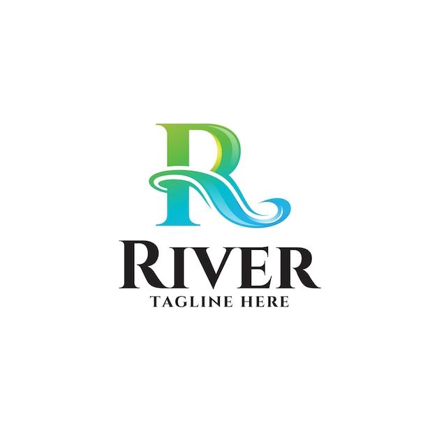 Logo abstrait lettre r Vecteur Premium