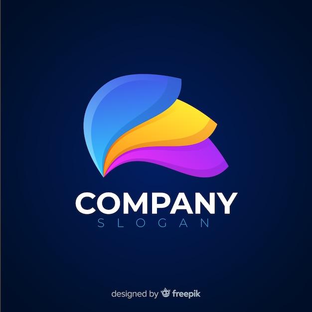 Logo abstrait de médias sociaux Vecteur gratuit