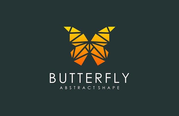 Logo abstrait papillon géométrique, illustration animale de géométrique moderne Vecteur Premium