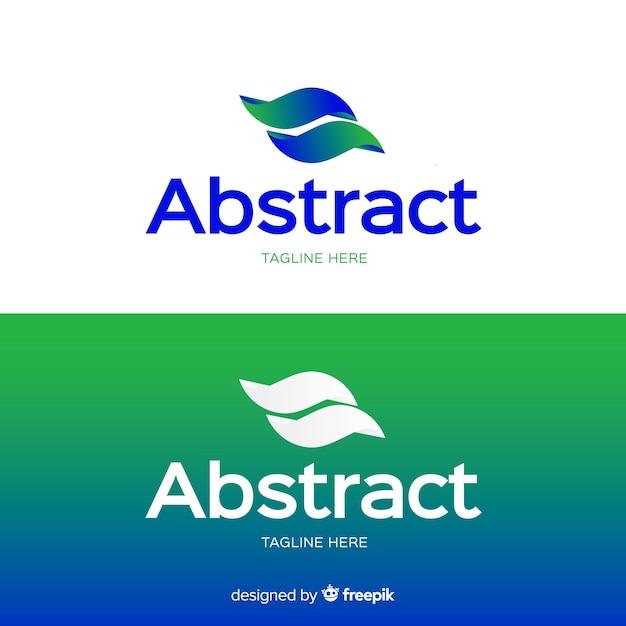 Logo abstrait pour fond clair et foncé Vecteur gratuit