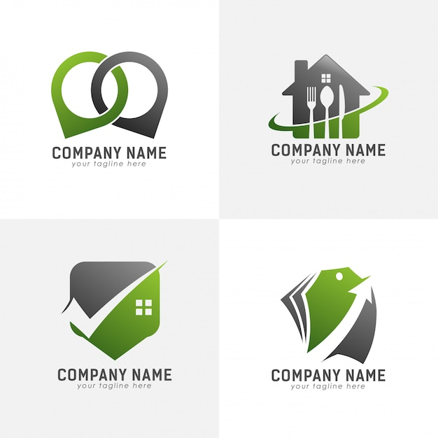 Logo abstrait vert Vecteur Premium
