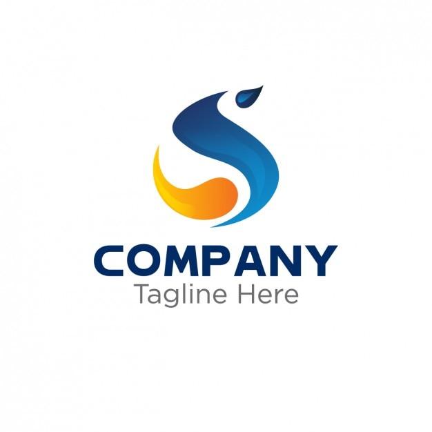 Logo avec abstraite s Vecteur gratuit