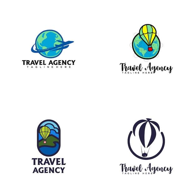 Logo de l'agence de voyage Vecteur Premium