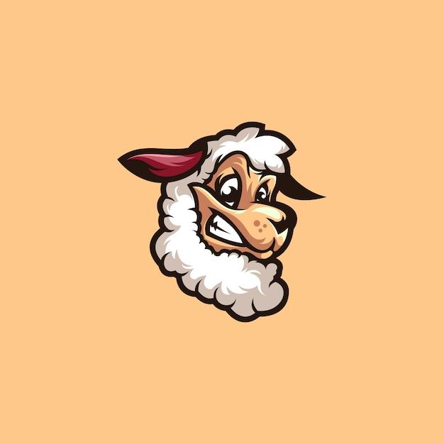 Logo d'agneau de mouton Vecteur Premium