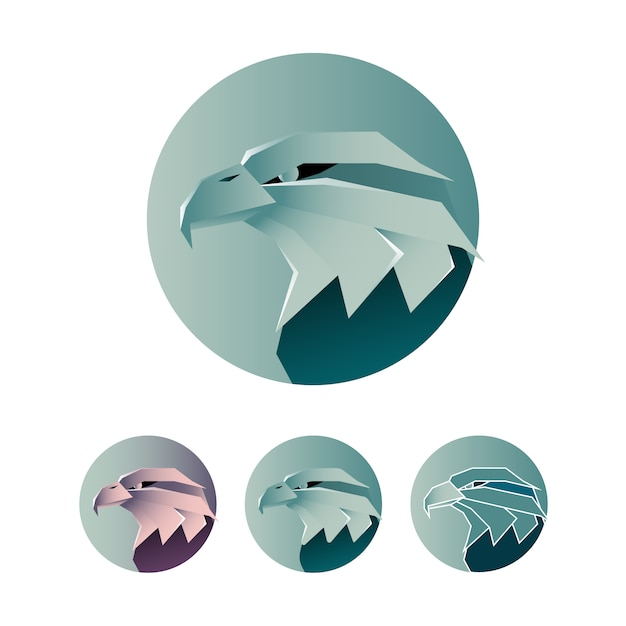 Logo Aigle Minimaliste Vecteur Premium