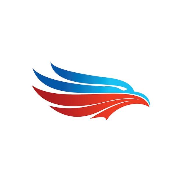 Logo aigle Vecteur Premium