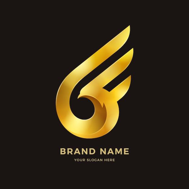 Logo Ailes D'oiseau Vecteur Premium