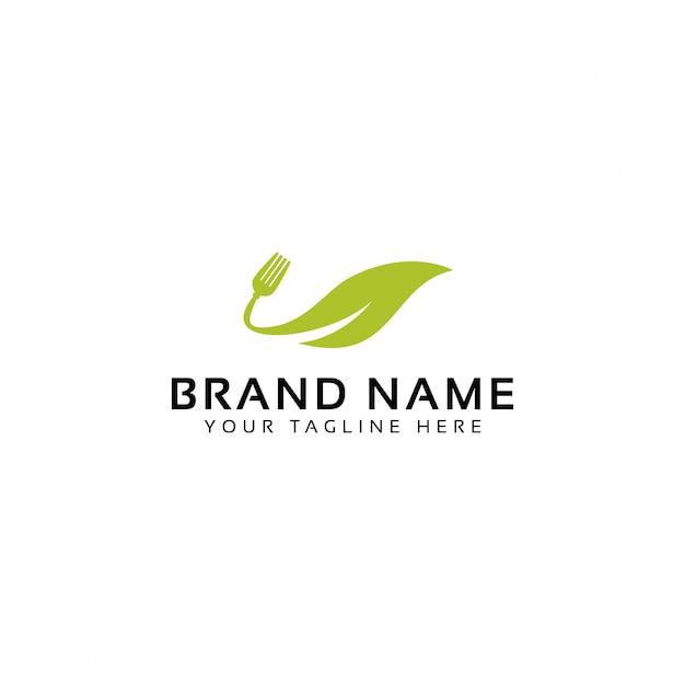 Logo De L'alimentation Verte Vecteur Premium