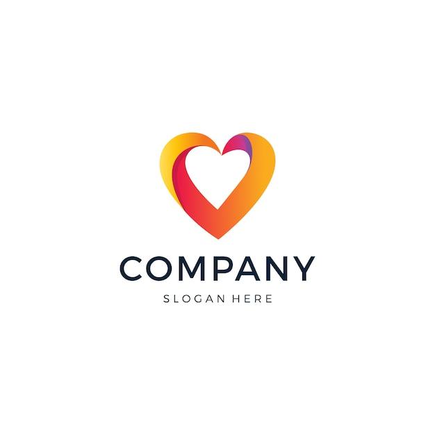 Logo d'amour Vecteur Premium