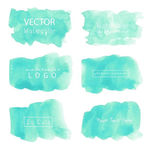Logo aquarelle pastel. Vecteur Premium