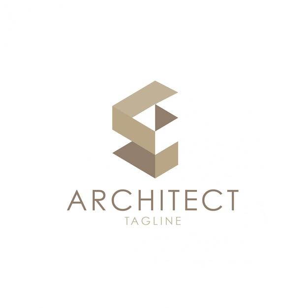 Logo architectural Vecteur Premium