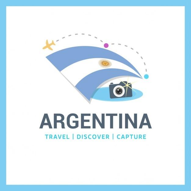 Logo Argentine Voyage Vecteur gratuit