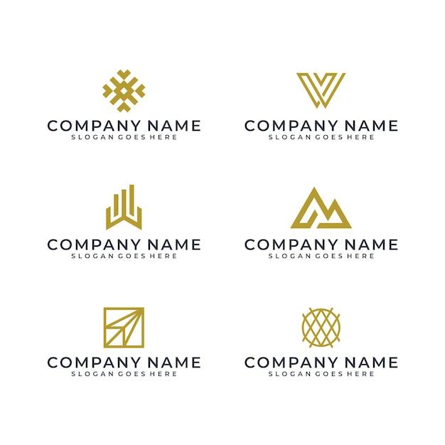 Logo D'art En Ligne Vecteur Premium