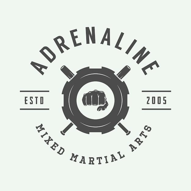 Logo D'arts Martiaux Mixtes Vecteur Premium